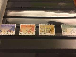 中國澳門郵政 國際象棋 郵票 一套