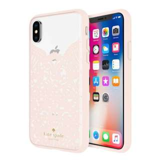 Kate Spade iPhone X - Pink lace