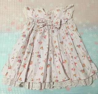 Mamas and Papas Girls Floral Pink Dress