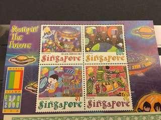新加坡郵政 兒童畫 小全張
