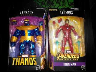 Marvel Legends Infinity War Iron Man and Thanos Set