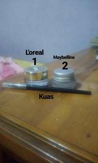 2 eyeliner(l'oreal, maybeline) + kuas (maybeline) SALE!