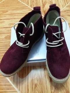 深酒紅色馬丁鞋
