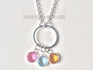 Family Birthstone Necklace / Birthstone Necklace