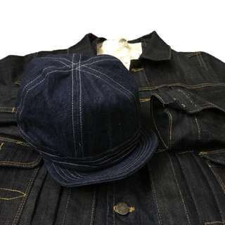 (SALE) Denim military cap (nigel cabourn workware vintage RRL Double RL 軍帽 牛仔帽)