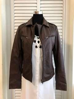 BARNEY'S genuine Leather Jacket (UK8)