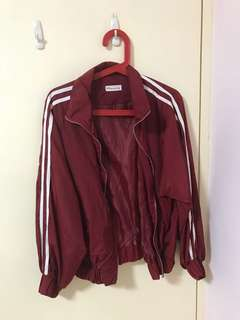 Red Sporty Bomber Jacket