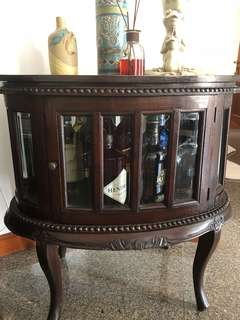 Antique teakwood wine cabinet