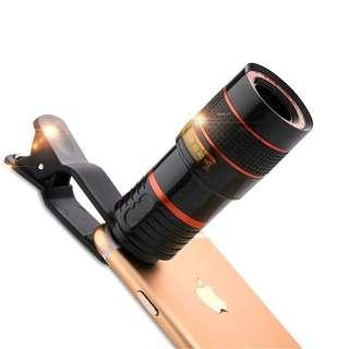 Lensa zoom kamera smartphone