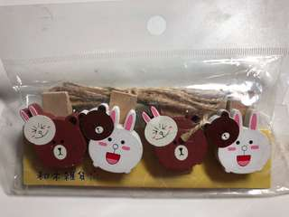 Line - Brown & Cony pegs