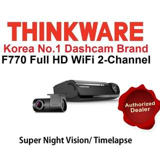 [Authorised Dealer] THINKWARE-F770☆ Full HD 2-ChWiFi Dashcam Free Installation 1year Warranty Car Cam Camera Dvr Blackbox
