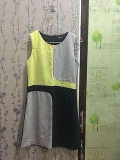 Yellow & black dress