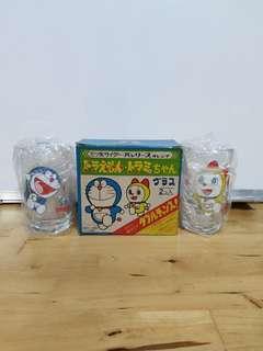 昭和56年,叮噹,多拉A夢,古董玻璃杯