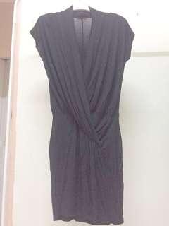 Warehouse wrap black dress