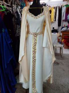 White Medieval Gown for RENT