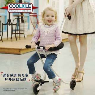 White Portable Foldable Easy to Carry Baby Stroller Trolly Bike WITH FREE BABY KNEE PADS