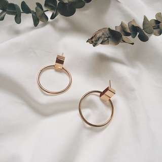 Bandits Plated Hoop Earring
