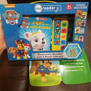 Early readers excellent condition Paw Patrol me reader Jr electronic reader and 8 book Library 6+m got overseas not in SG retail
