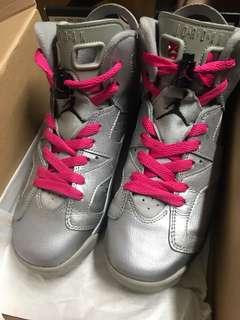 Jordan 6 retro silver pink 4.5Y