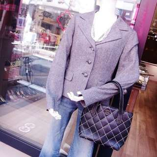 CHANEL RARE Wild stitch hand tote bag A 18126 calf leather black ladies brand (SHIP FROM JAPAN)