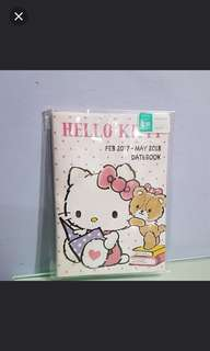 Japan Sanrio Hello Kitty Datebook/Organiser Feb 2017- May 2018