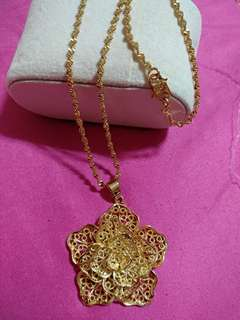 necklace 24k korea gold plated