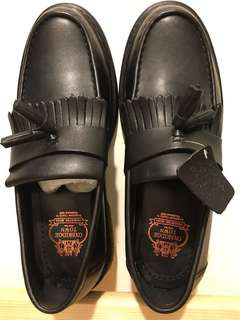 Black Leather Oxbridge Town Shoes