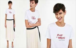 🚚 OshareGirl 05 歐美女士字母印花短袖上衣T恤短T