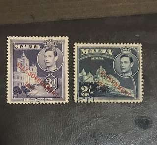 Malta High Value  Stamps Used King George
