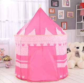 *In Stock* BN Pink Princess Crown Indoor Outdoor Foldable Portable Children's Play Tent