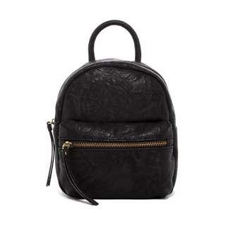 Bueno of California Veg PU Leather Small Backpack -BLACK
