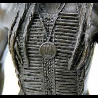 印底安獵人歐式 銅雕擺件 (附證書,已降價)