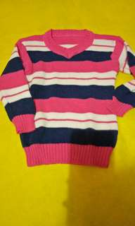 Baju strip pink