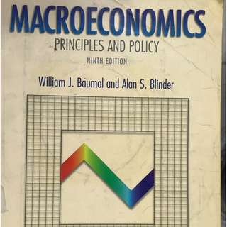 Macroeconomics: Principles and Policy, 9th ed. (CD not included)  Baumol and Blinder  Thomson 2003