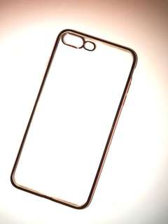 玫瑰金邊IPhone 7 plus 透明case