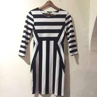 H&M Stripes Bodycon