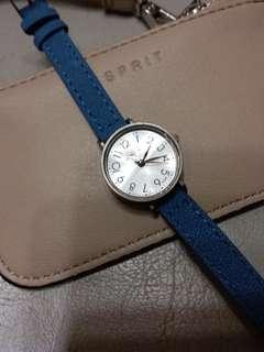 簡約藍色女裝碗錶