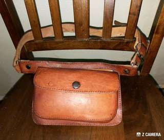 Pouch Bag Leather Handmade Unbrand