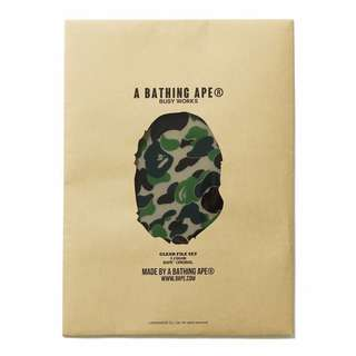 BAPE ABC CAMO CLEAR FILE SET