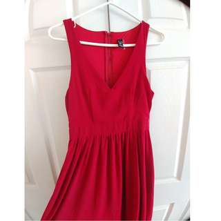 Ruby V-neck Formal Dress
