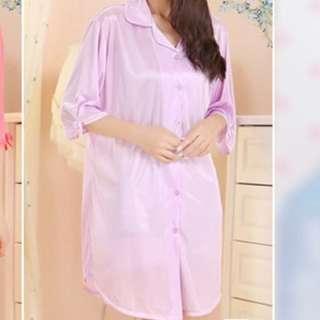 [brand new with tags] womens sleepwear nightgown silk pajamas, light purple, free size