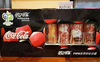 Coca Cola Fifa World Cup 2006- 4 can set Rare Ltd Edition