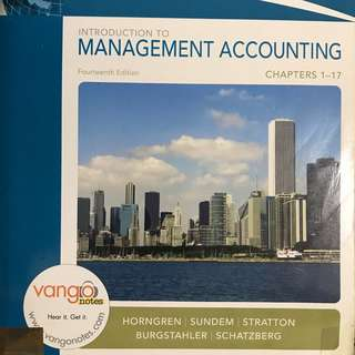 Introduction to Management Accounting 14th ed  Horngren, Sundem, Stratton, Burgstahler, and Schatzberg  Pearson 2008
