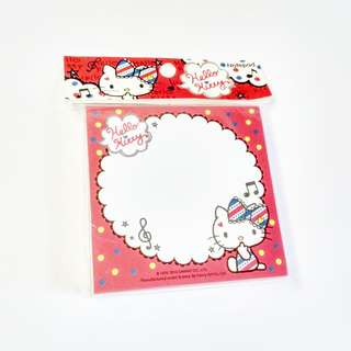 hello kitty medium square memo pad (red, white, blue) (#20)