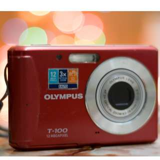 Olympus T100 compact pocket point and shoot digital camera