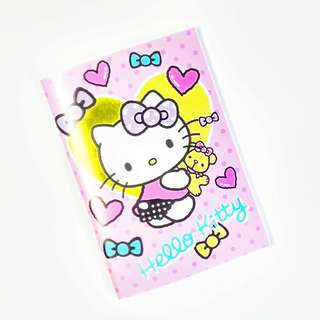 hello kitty small notebook (translucent plastic cover) (#25)