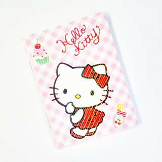 hello kitty & sweet treats small notebook (holographic) (#26)