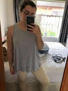 Open back grey top