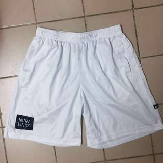 Intra IMPACT Intra Link Men's Sports Drifit Shorts White Size Large with side pocket