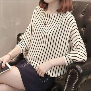 Top knit stripe